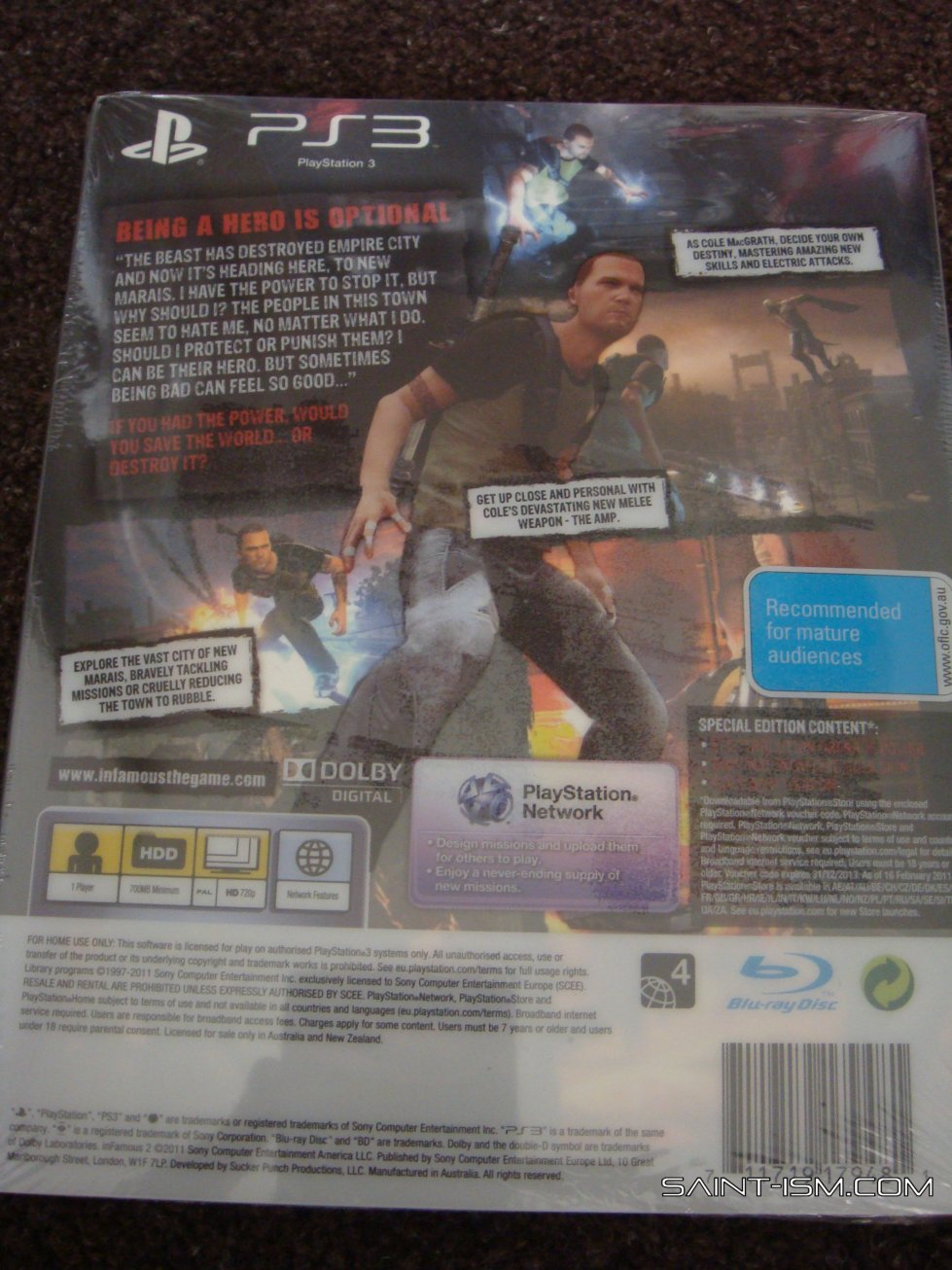 inFamous 2 Hero Edition Unboxing | Saint-ism – Gaming ...