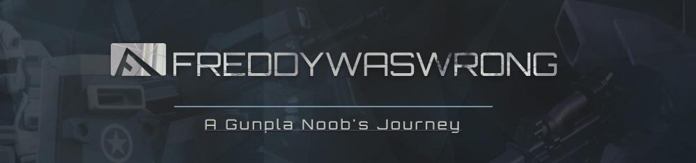 Freddywaswrong – A Gunpla Noob's Journey