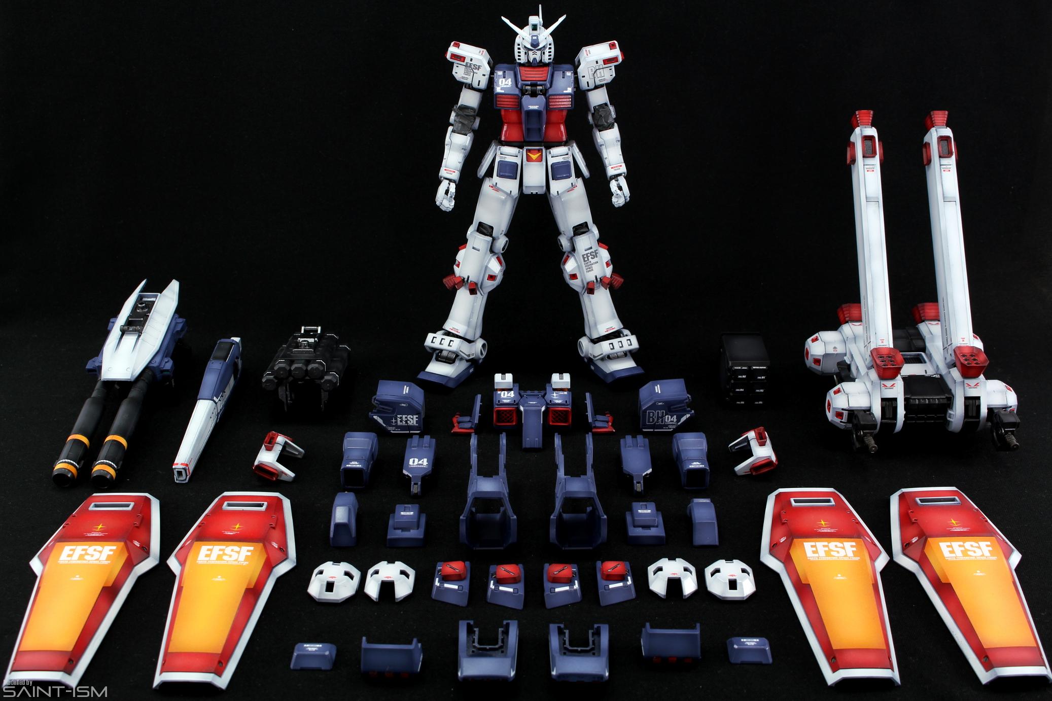 Mg Full Armor Gundam Gundam Thunderbolt Ver Ka Saint Ism Gaming Gunpla Digital Art